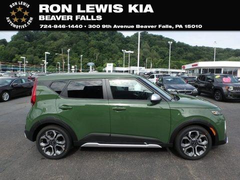 Undercover Green 2020 Kia Soul X-Line