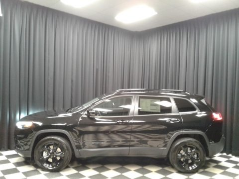 Diamond Black Crystal Pearl 2019 Jeep Cherokee Latitude Plus 4x4