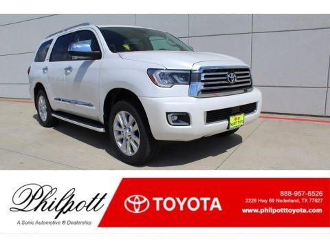 Blizzard White Pearl 2019 Toyota Sequoia Platinum 4x4