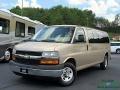 Chevrolet Express LT 3500 Extended Passenger Van Sandstone Metallic photo #1