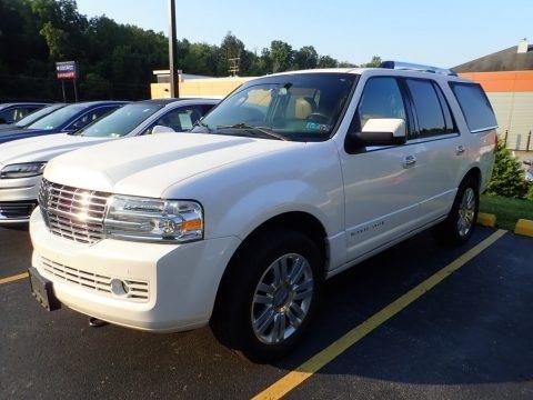 White Platinum Metallic Tri-Coat 2012 Lincoln Navigator 4x4