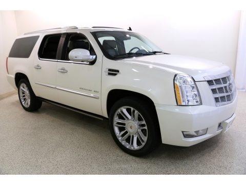 White Diamond Tricoat 2014 Cadillac Escalade ESV Platinum AWD