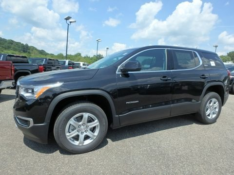 Ebony Twilight Metallic 2019 GMC Acadia SLE AWD