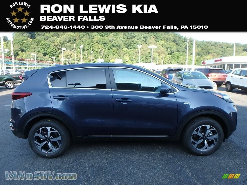 2020 Sportage LX AWD - Pacific Blue / Black photo #1
