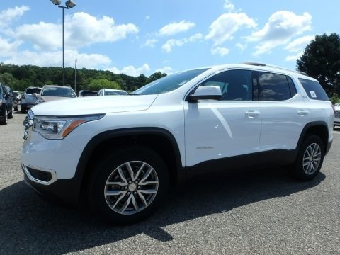 Summit White 2019 GMC Acadia SLE AWD