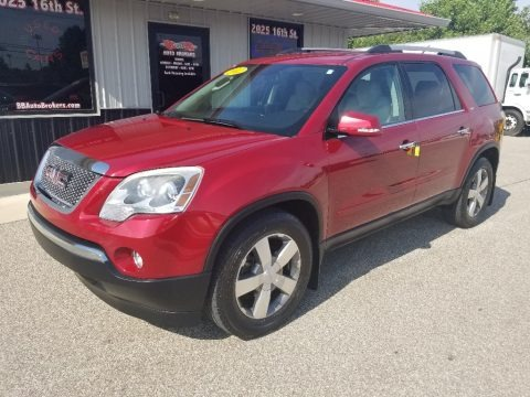 Crystal Red Tintcoat 2012 GMC Acadia SLT
