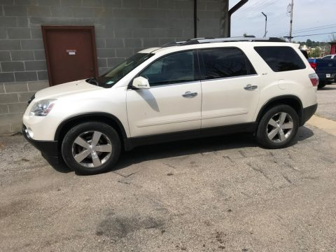 White Diamond Tricoat 2012 GMC Acadia SLT