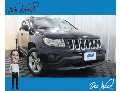 Black 2012 Jeep Compass Sport 4x4