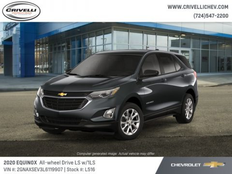 Nightfall Gray Metallic 2020 Chevrolet Equinox LS AWD
