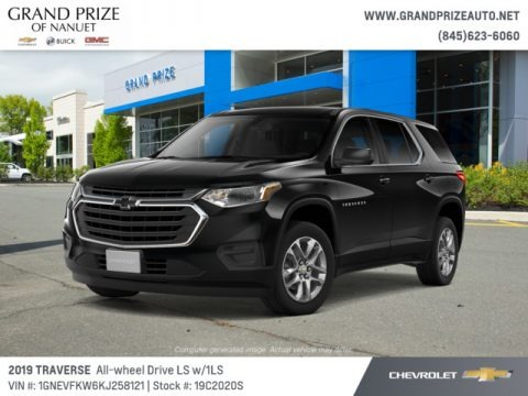 Mosaic Black Metallic 2019 Chevrolet Traverse LS AWD