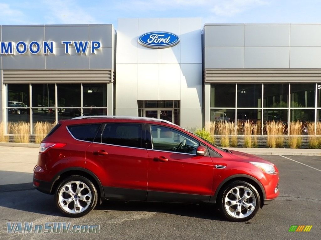 2016 Escape Titanium 4WD - Ruby Red Metallic / Charcoal Black photo #1