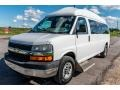 Chevrolet Express LT 3500 Extended Passenger Van Summit White photo #8