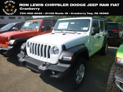 Bright White 2020 Jeep Wrangler Unlimited Sport 4x4