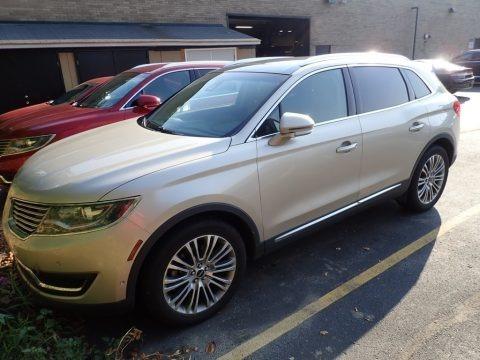 Palladium White Gold 2017 Lincoln MKX Reserve AWD