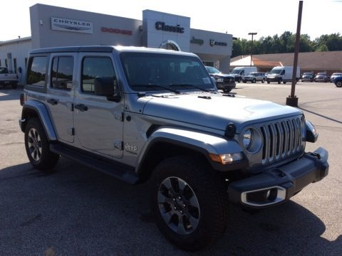 Billet Silver Metallic 2019 Jeep Wrangler Unlimited Sahara 4x4