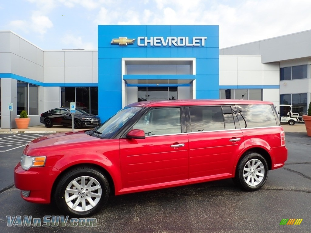 Red Candy Metallic / Charcoal Black Ford Flex SEL