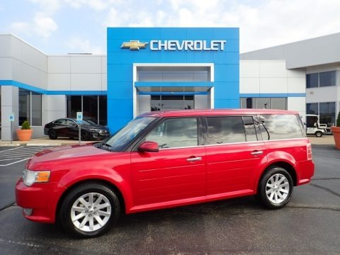Red Candy Metallic 2010 Ford Flex SEL