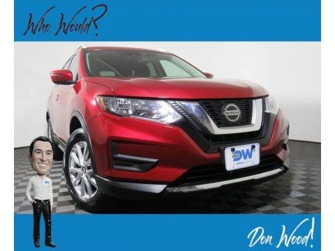 Scarlet Ember 2019 Nissan Rogue SV AWD