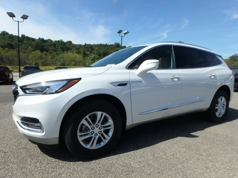 White Frost Tricoat 2020 Buick Enclave Essence AWD