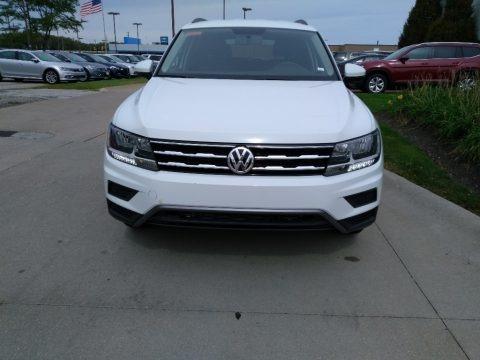 Pure White 2019 Volkswagen Tiguan S 4MOTION
