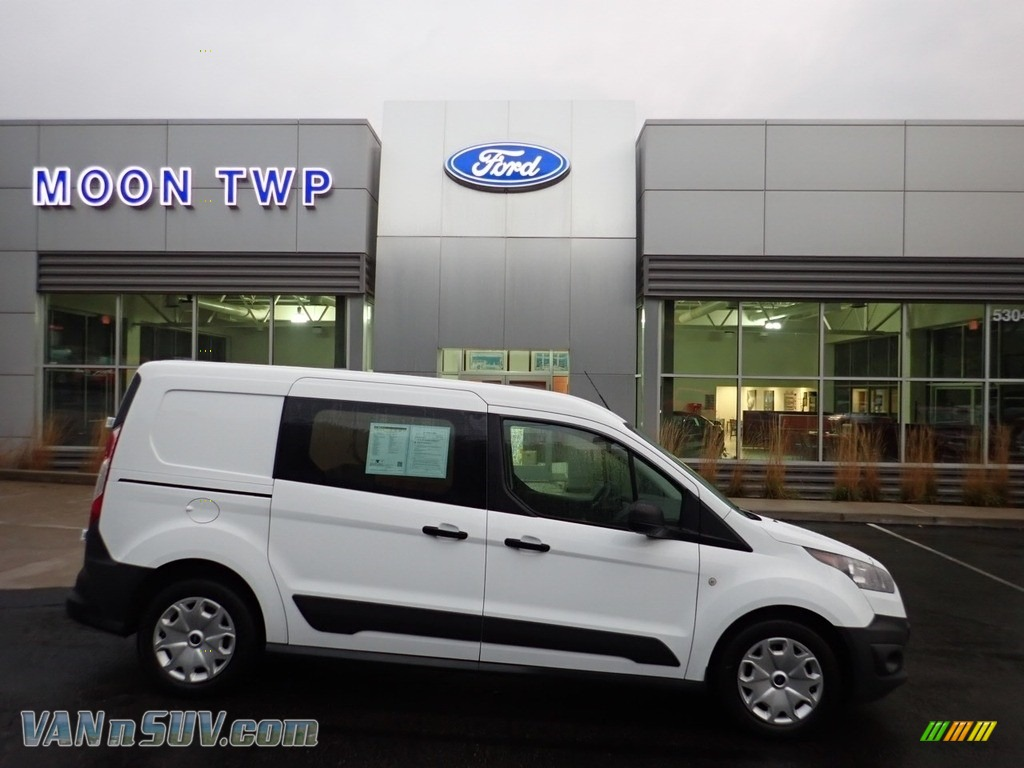 Frozen White / Charcoal Black Ford Transit Connect XL Cargo Van Extended