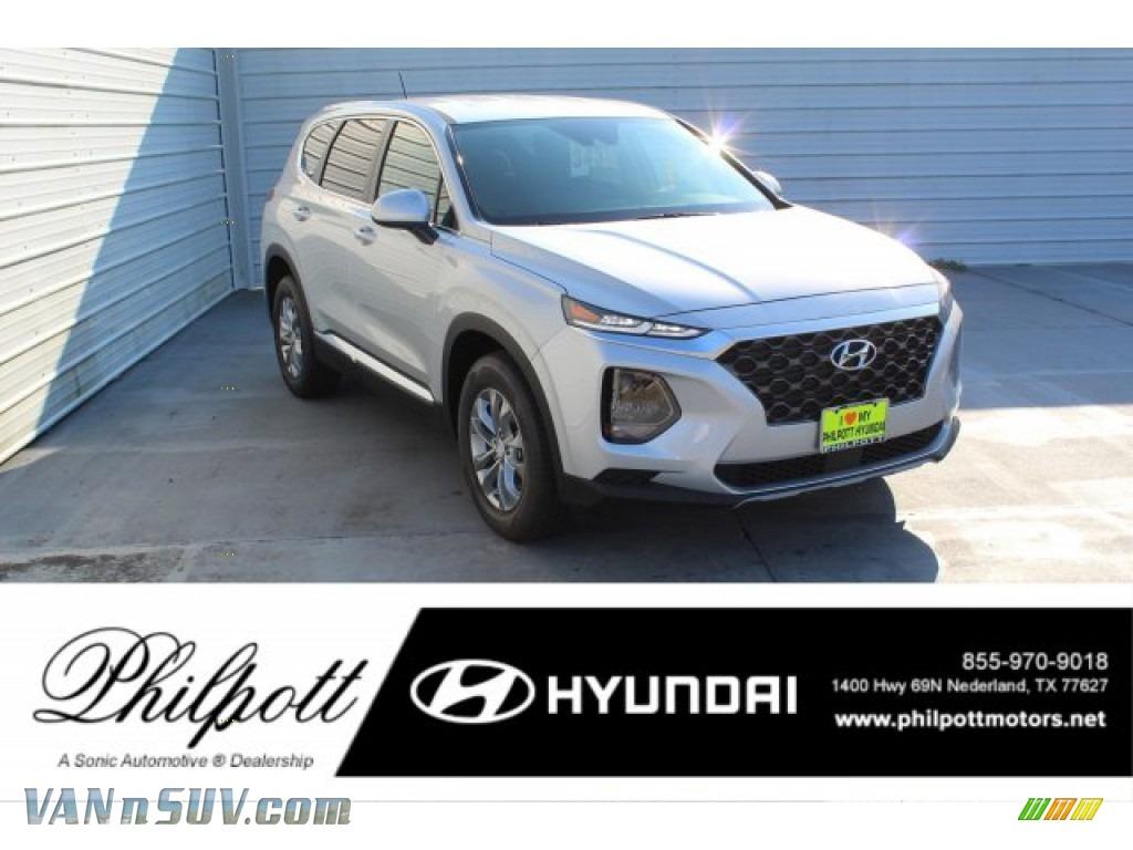Shimmering Silver Pearl / Espresso/Gray Hyundai Santa Fe SE