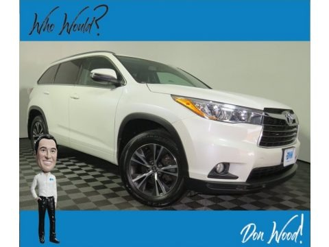 Blizzard Pearl 2016 Toyota Highlander XLE