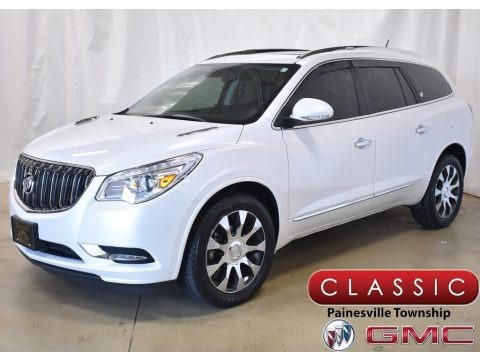 White Frost Tricoat 2017 Buick Enclave Leather AWD