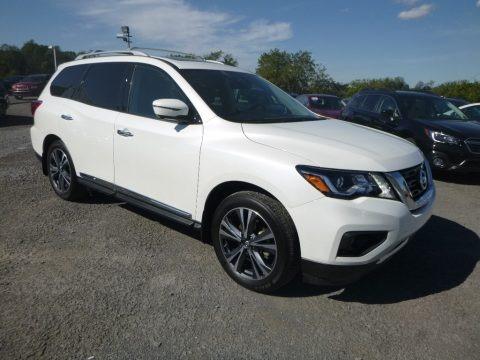 Pearl White 2018 Nissan Pathfinder Platinum 4x4
