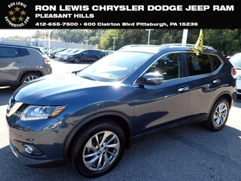 Arctic Blue Metallic 2015 Nissan Rogue SL AWD