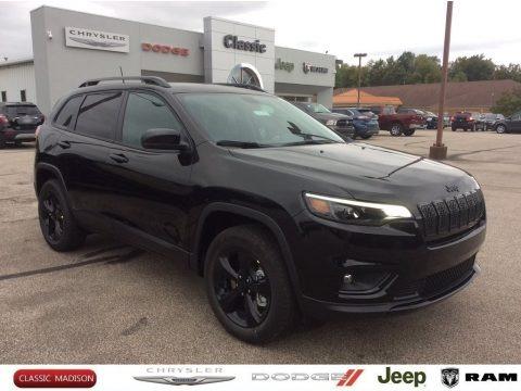 Diamond Black Crystal Pearl 2020 Jeep Cherokee Altitude 4x4