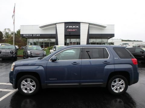 Steel Blue Metallic 2011 GMC Terrain SLE AWD
