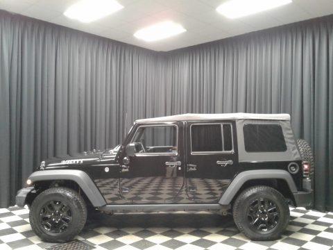 Black 2016 Jeep Wrangler Unlimited Willys Wheeler 4x4