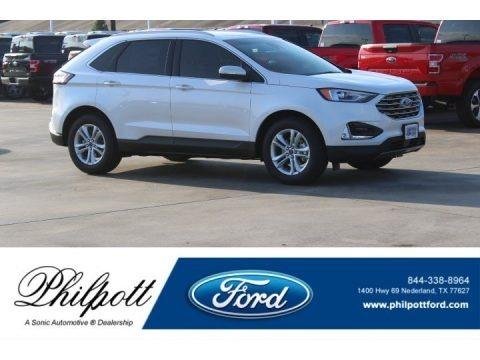 White Platinum 2019 Ford Edge SEL