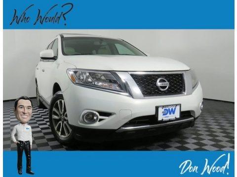 Moonlight White 2013 Nissan Pathfinder SL 4x4