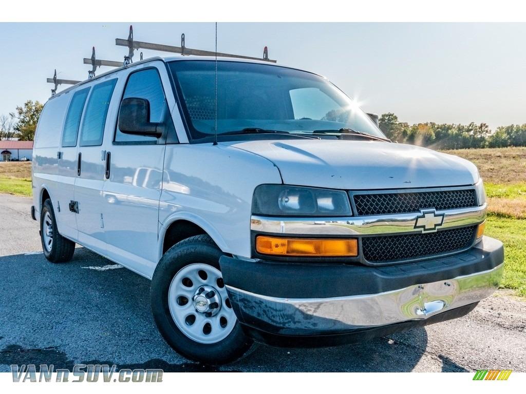 2012 Express 1500 Cargo Van - Summit White / Medium Pewter photo #1