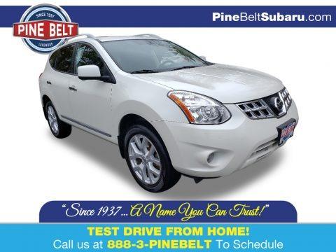 Pearl White 2013 Nissan Rogue SL AWD
