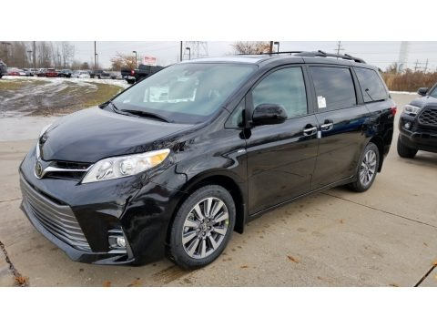 Midnight Black Metallic 2020 Toyota Sienna XLE AWD