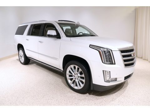Crystal White Tricoat 2019 Cadillac Escalade ESV Premium Luxury 4WD