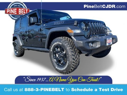 Black 2020 Jeep Wrangler Unlimited Willys 4x4