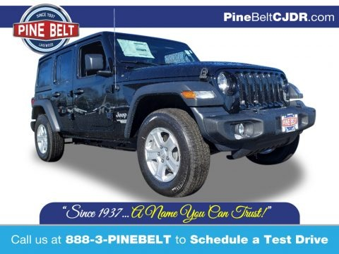 Black 2020 Jeep Wrangler Unlimited Sport 4x4