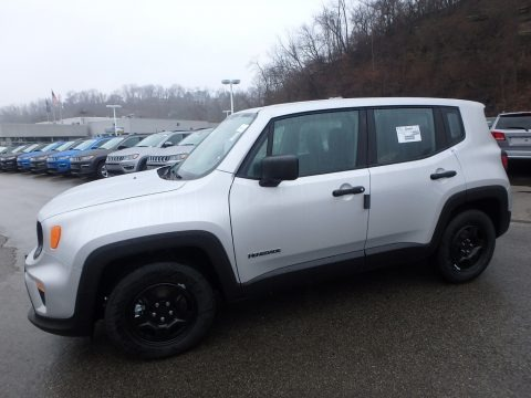 Glacier Metallic 2020 Jeep Renegade Sport
