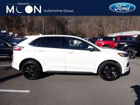 Star White Metallic Tri-Coat 2020 Ford Edge ST AWD