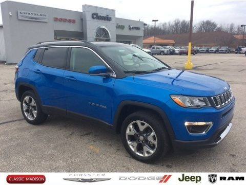 Laser Blue Pearl 2020 Jeep Compass Limted 4x4