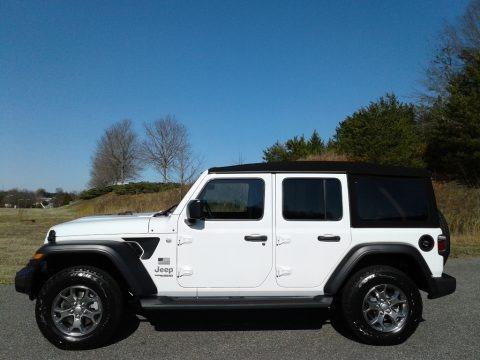 Bright White 2020 Jeep Wrangler Unlimited Sport 4x4