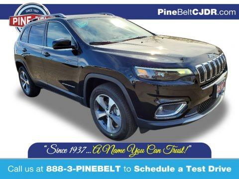 Diamond Black Crystal Pearl 2020 Jeep Cherokee Limited 4x4