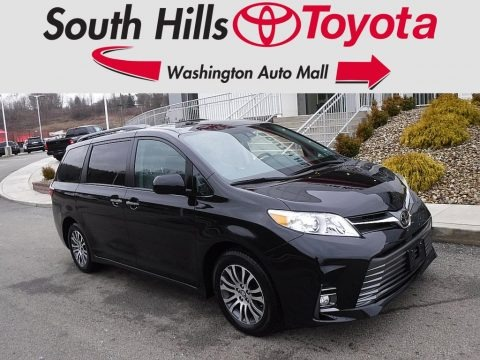 Midnight Black Metallic 2020 Toyota Sienna XLE