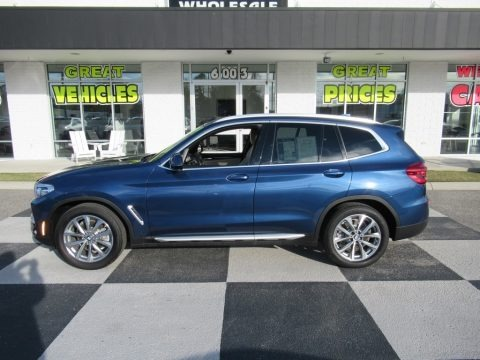 Phytonic Blue Metallic 2019 BMW X3 sDrive30i