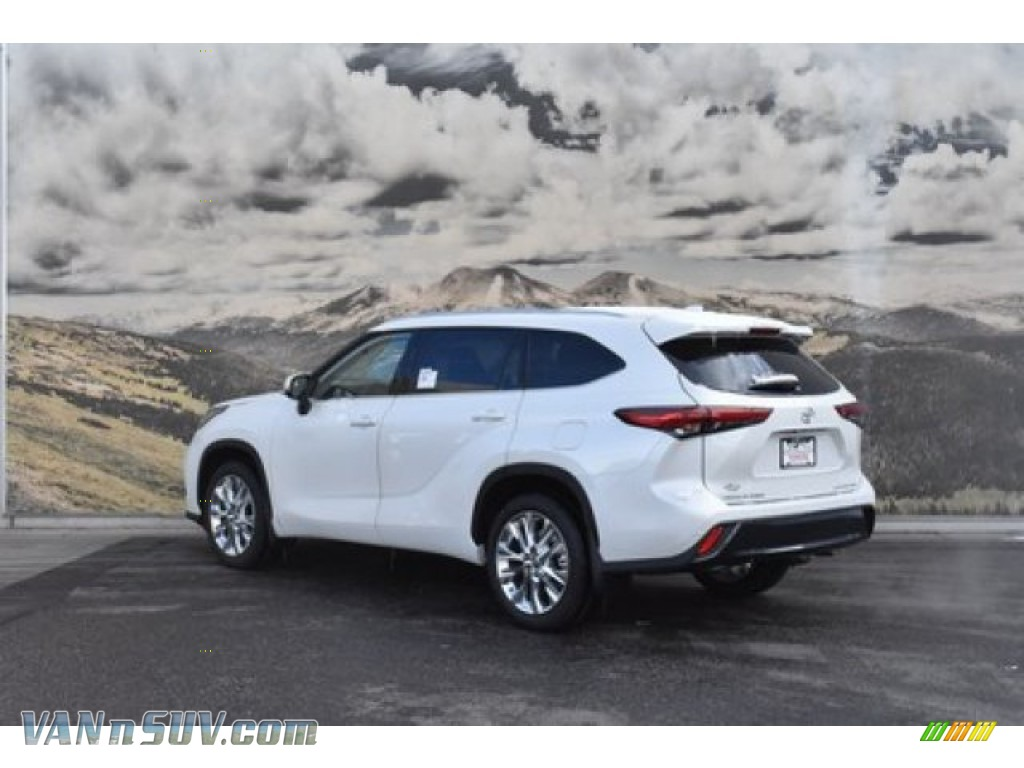 2020 Highlander Limited AWD - Blizzard White Pearl / Black photo #3