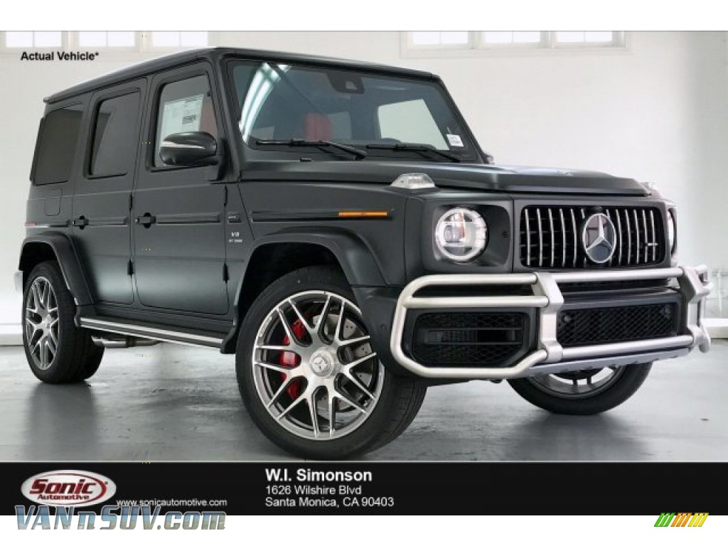 2020 G 63 AMG - designo Night Black Magno (Matte) / designo Classic Red/Black photo #1